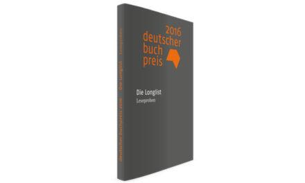 Deutscher Buchpreis Longlist 2016