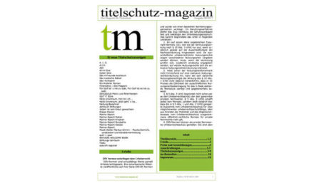 Titelschutz Magazin Mai 2018