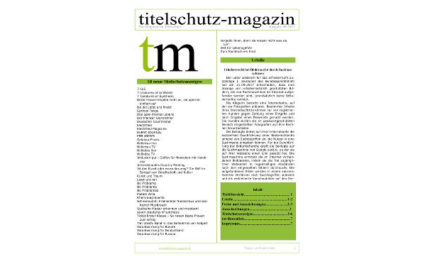 Titelschutz Magazin April 2018