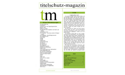 Titelschutz Magazin August 2018