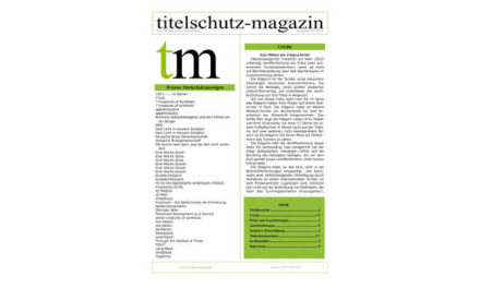 Titelschutz Magazin Februar 2018
