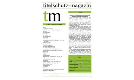 Titelschutz Magazin Juli 2018