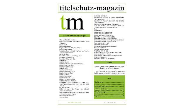Titelschutz Magazin September 2018