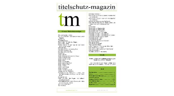 Titelschutz  Magazin Februar 2019