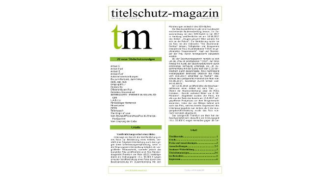 Titelschutz Magazin April 2019