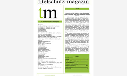 Titelschutz Magazin Mai 2019